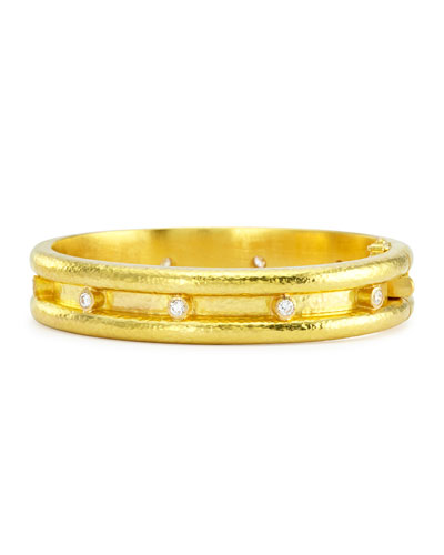 Elizabeth Locke 19k Gold Banded Bangle Bracelet k7yCJ