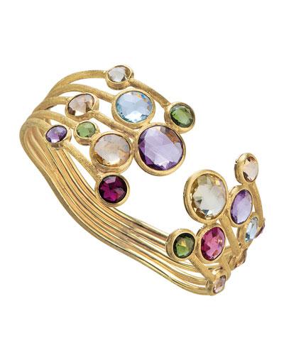 Jaipur Five-Row Mixed Stone Bangle Bracelet
