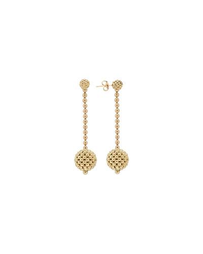 Caviar 18k Gold Drop Earrings