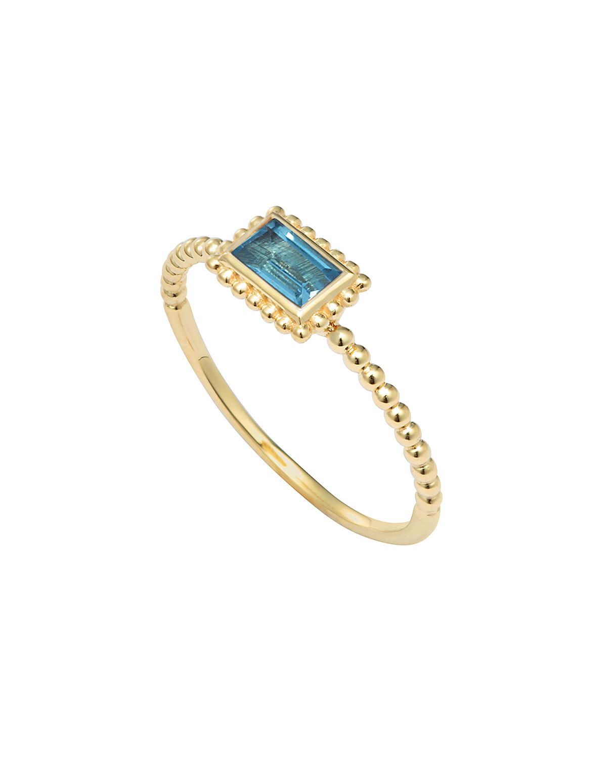 Covet Blue Topaz Stackable Ring, Size 7
