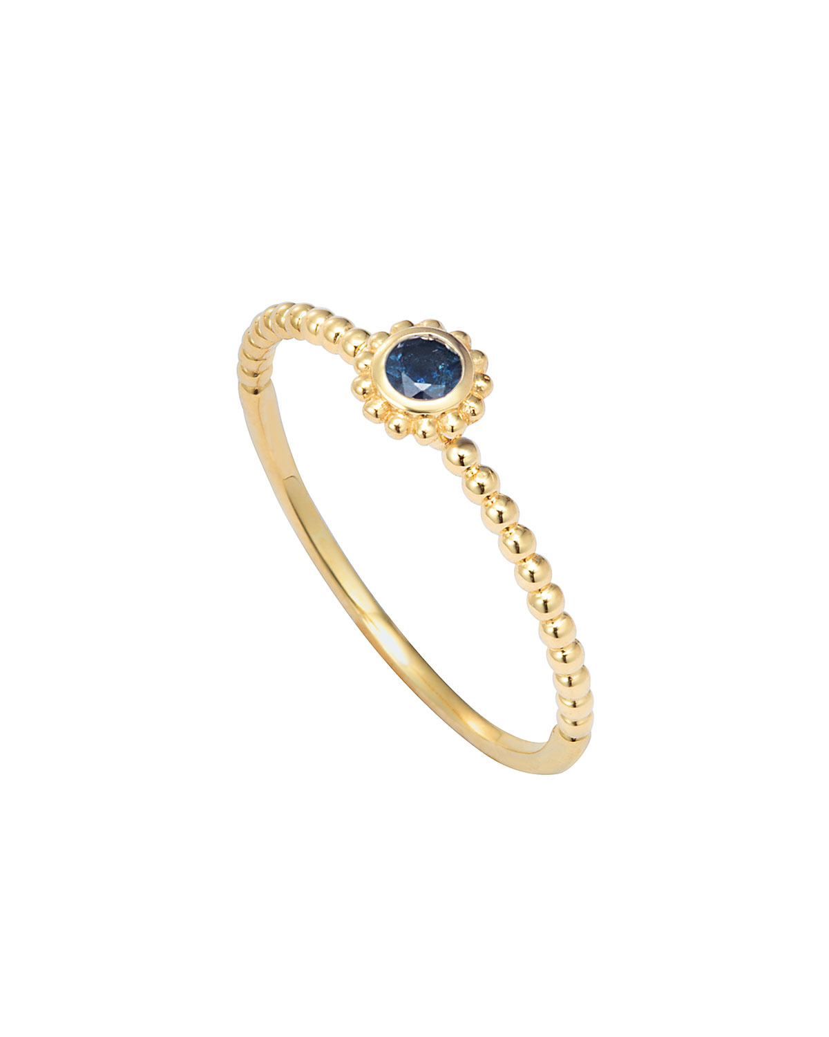 Covet Blue Sapphire Stackable Ring, Size 7