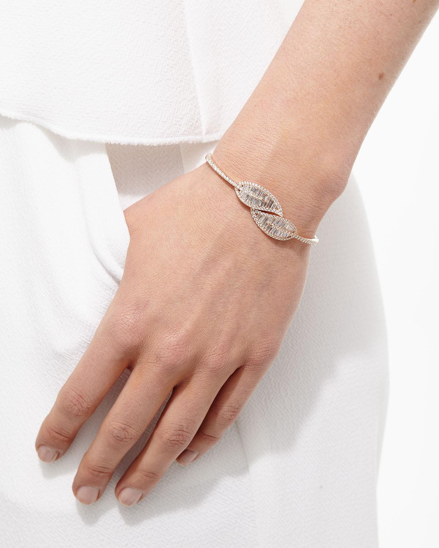 Hinged Diamond Leaf Bracelet