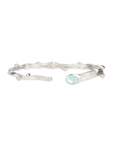 Twig Blue Topaz & Diamond Bracelet