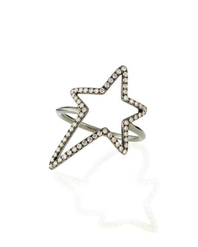 Pavé Diamond Star Ring, Size 7.25