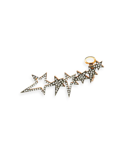 White Diamond Star Ear Cuff