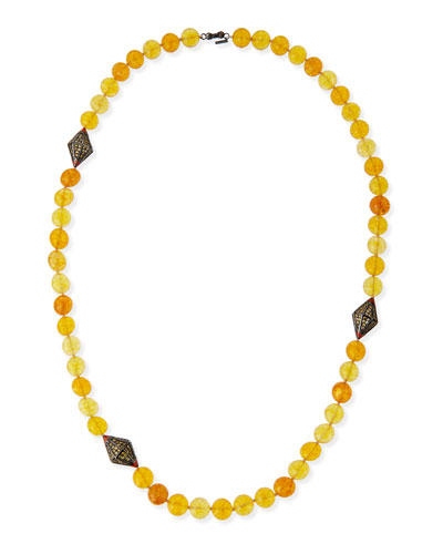 Garden of Spring and Summer Citrine Necklace