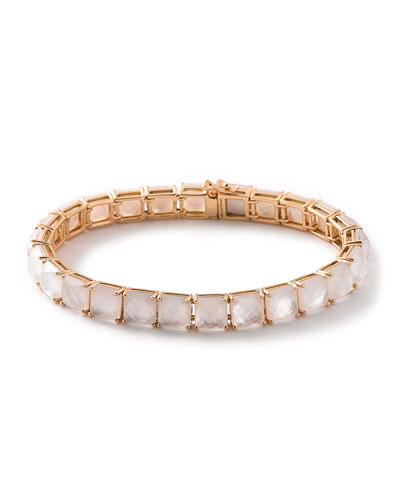 18k Rocky Candy Tennis Bracelet in Mother-of-Pearl