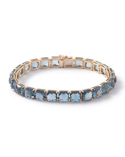 18k Rock Candy Tennis Bracelet in London Blue Topaz