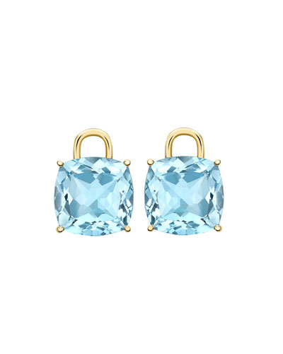 Eternal 18k Gold Blue Topaz Earring Drops