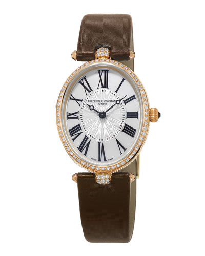 FREDERIQUE CONSTANT LADIES' CLASSICS ART DECO ROSE GOLD DIAMOND WATCH