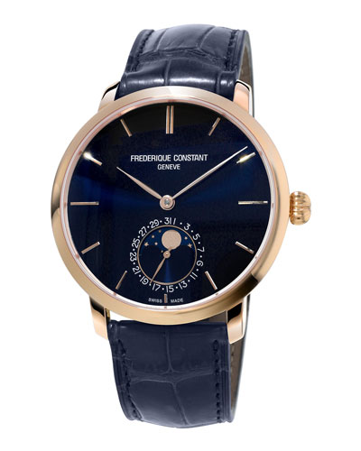 Gents Slimline Manufacture Rose Gold Moonphase Watch