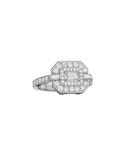 Deco Collection Emerald-Cut Diamond Ring