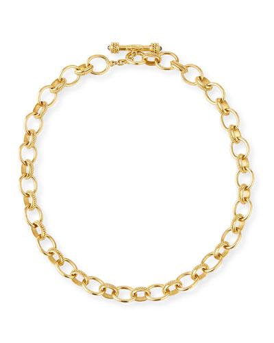 Lampedusa 19k Gold Link Necklace, 17