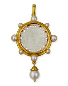 Chinese Gaming Counter Pearl Pendant