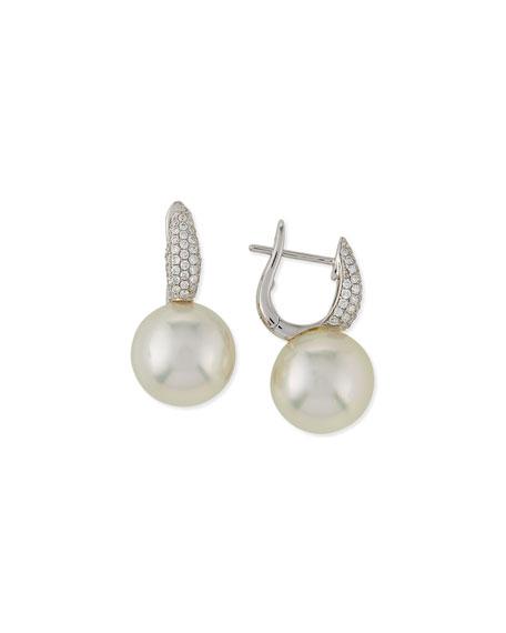 Belpearl Slim South Sea Pearl & Diamond Earrings