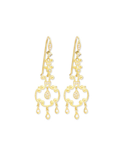 Aegean Collection 18k Diamond Open-Drop Earrings