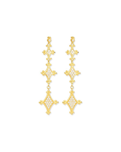 Aegean Collection 18k Diamond Drop Earrings