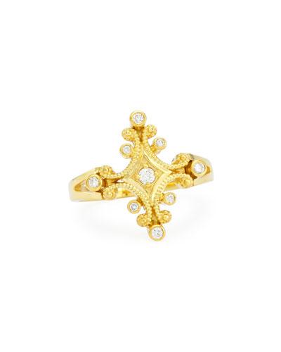 ELI JEWELS Aegean 18K Diamond Ring, Size 6.5