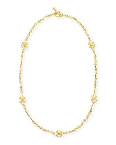 ELI JEWELS Aegean 18K Diamond Station Necklace