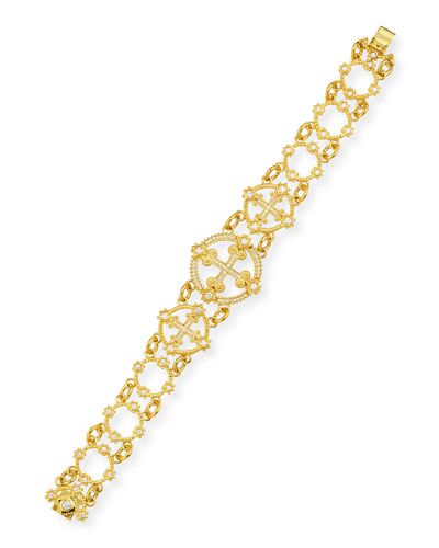 ELI JEWELS AEGEAN 18K DIAMOND CROSS BRACELET