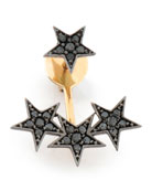 Wonder Woman Black Diamond Stars Ear Jacket