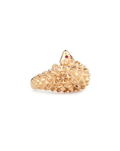 Hans the Hedgehog Rose Gold Ring, Size 5.5