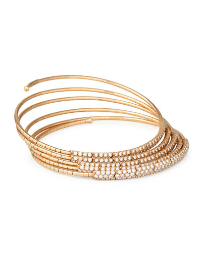 Five-Row Diamond Wrap Bracelet