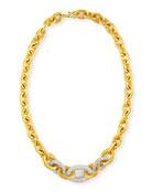 Gurhan 24k Tapered Galahad Necklace with Diamonds