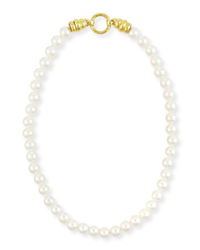 Single-Strand Pearl Necklace with Martin Clasp