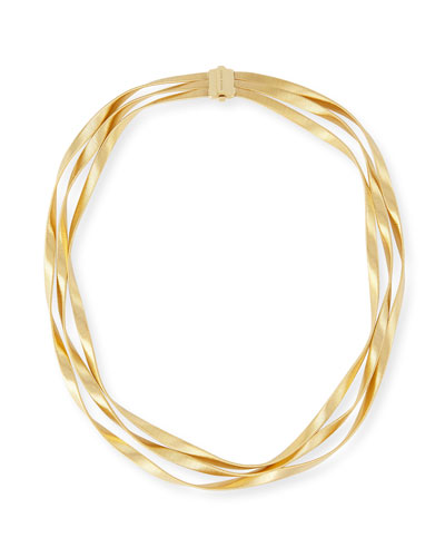 Marrakech 18k Three-Strand Necklace