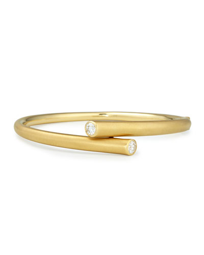 18k Gold Bracelet with Diamond Ends