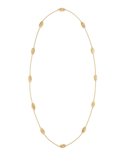 Sealeaf Collection 18k Gold Long Necklace