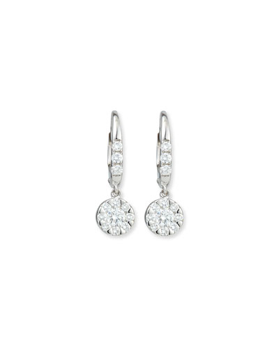RINA LIMOR Flower Diamond Dangle Earrings