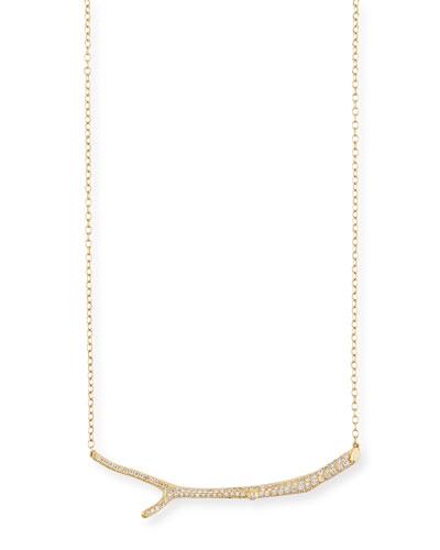MIMI SO Wonderland 18K Yellow Gold Diamond Twig Necklace