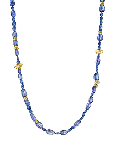 Wonderland Beaded Tanzanite & Diamond Necklace