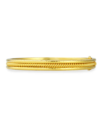 19k Gold Thin Braided Bangle Bracelet