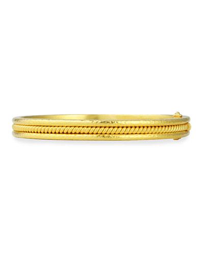 Elizabeth Locke 19k Gold Heavy Wire Bangle Bracelet pmqkHK