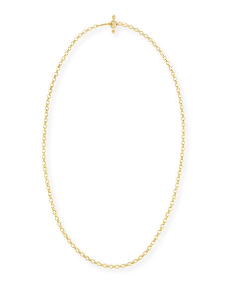 "Elizabeth Locke Cortina 19k Gold Link Necklace, 31""L"