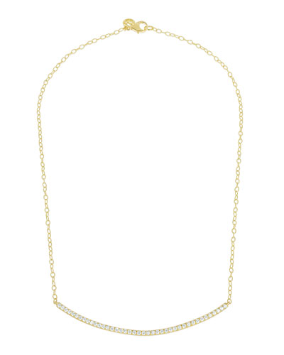 Moderne 18k Diamond Bar Necklace