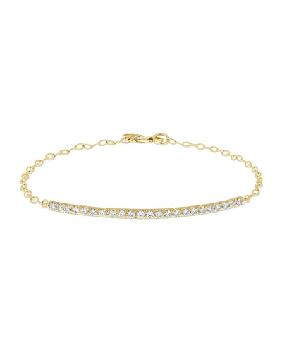 Moderne 18k Diamond Bar Bracelet