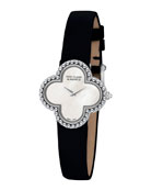 Vintage Alhambra White Gold Watch, Small