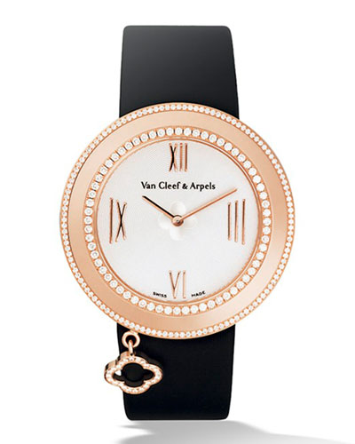 Pink Gold Charms Watch with Diamonds, 38mm