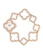 Vintage Alhambra Pink Gold Bracelet Watch