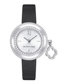 Charms White Gold Mini Watch, 25mm