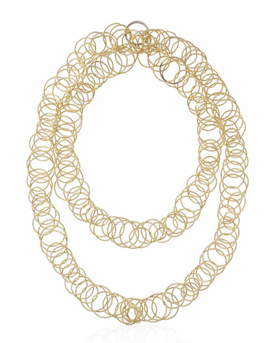Hawaii 18K Gold Interlocking Hoop Necklace