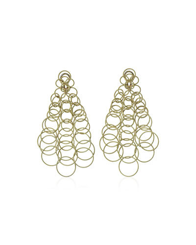 18k Gold Hawaii Earrings, 3.5