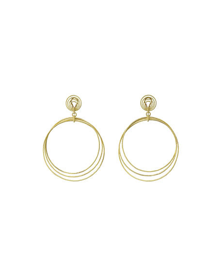 Buccellati 18k Gold Hawaii Circle Drop Earrings