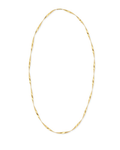 Marrakech 18k Gold Single Strand Necklace, 36