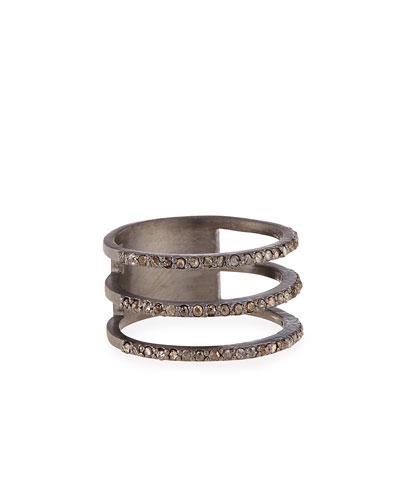 Triple Row Diamond Ring, Size 7