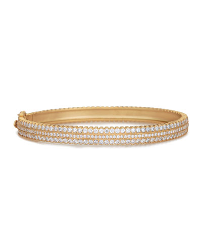 Scalloped Pave Diamond Hinge Bracelet